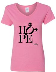Hope design Feminine V-Neck Short Sleeve Tee