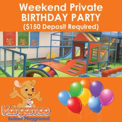 Birthday Party: Private Weekend ($150 Deposit Required)