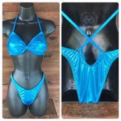 Turquoise bandeau Figure\Physique Suit