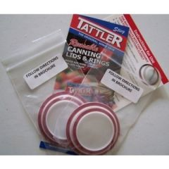 Item 10] LIMIT ONE PER CUSTOMER ***** Use Coupon Code sample And Save $2.00 Off This Product (see description for details)! (2 OF EACH SIZE ~ E-Z SEAL LIDS & RINGS/WHITE - SAMPLE PACK)