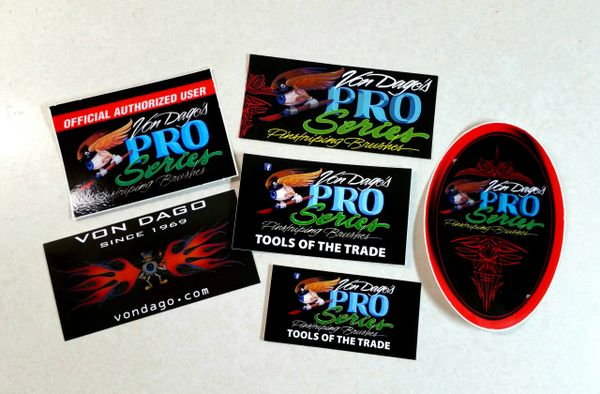"Pro-Series 6 piece ""Sticker Pac"""