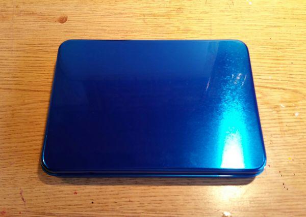 "Candy Blue ""Seamless"" Metal Pinstriping Brush Box"