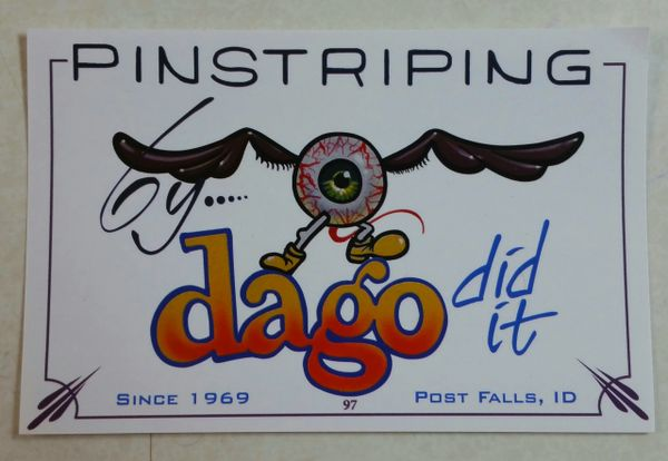 "Pinstriping by Dago Did It ""Sticker"""