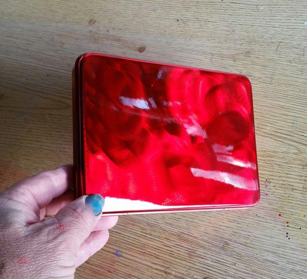 "GROUND METAL Candy Apple Red ""Seamless"" Pinstriping Brush Box"