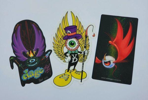 Flying Eyeball Stickers - 3 Pac SET