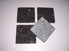 Natural Blue Pearl Granite Stone Coasters Set of 4