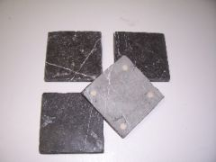 Natural Stone Black and White Marble Coasters Set of 4