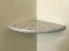 "Premium 2CM X 9"" Grey Marble shower Corner Shelf"