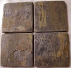 Natural Autumn Slate Stone Coasters Set of 4