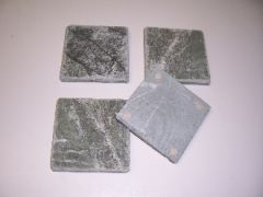 Natural Stone Verde (Green) Marble Coasters Set of 4