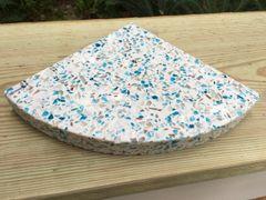 3cm Juneau Recycled Glass Shower Corner Shelf
