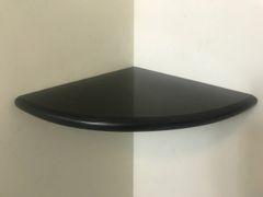 "Premium 2CM X 9"" Black Granite Shower Corner Shelf"