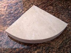 3cm Ivory Travertine Shower Corner Shelf