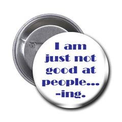 Humurous quote on choice of pin or magnet CH574