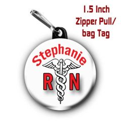 Personalized Registered Nurse button on choice of items with name CH413