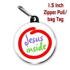Inspirational Jesus inside button CH316