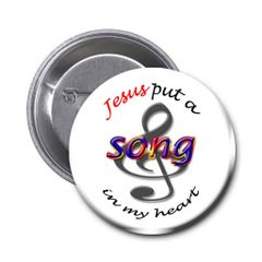 Inspirational Jesus Song button on choice of items CH140