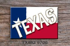 Texas Fridge Magnet with Texas flag