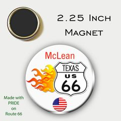2.25 Inch Magnet Personalized Route 66 with City and State