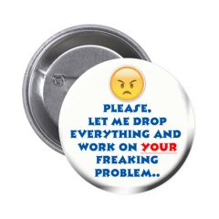 Silly quote on choice of pin or magnet CH571