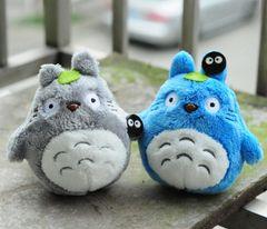 Totoro Plush Keychain (Blue)