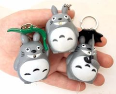 Totoro Key Ring Flash Light (Green Leaf)