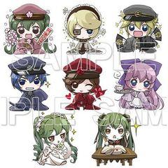 "Miku Hatsune ""Novel Senbonzakura"" Trading Rubber Strap (Random - 1 Pc)"