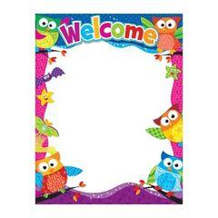 Trend Enterprises Welcome (Owl-Stars!®) Learning Chart