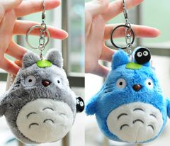 Totoro Plush Key Chain (Grey and Blue)