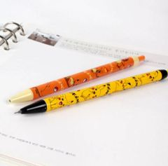 Nintendo Pokemon 0.5mm Mechanical Lead Pencil with Pocket Clip (Orange Chamander and Yellow Pikachu)