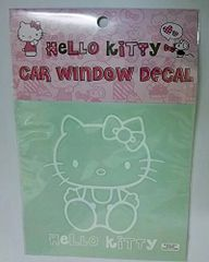 Hello Kitty Car Window Sticker - Sitting Kitty