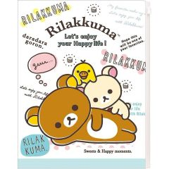 Rilakkuma - Filing Square Clear Holder 6+1