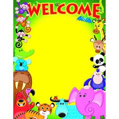 Trend Enterprises Welcome Awesome Animals Learning Chart