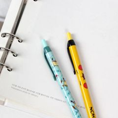 Nintendo Pokemon 0.5mm Mechanical Lead Pencil with Pocket Clip (Squirtle and Yellow Pikachu Face)
