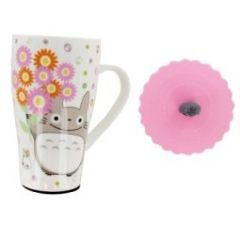Totoro Tall Mug with Cute Silicone Lid