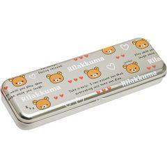 San-x Rilakkuma Tin Pencil Case Heart Series