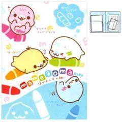 San-X Mamegoma Baby A4 2-Pocket Portfolio Plastic File Folder (FY-71401)