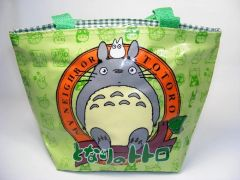 My Neighbor TOTORO Green Circle Small Zip Tote Lunch Toy Bag Gift Kawaii