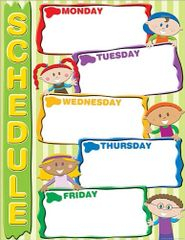 Teacher Created Resources Schedule Chart, Multi Color (7630)