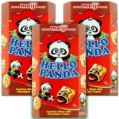 Meiji Hello Panda Chocolate Biscuit 2.1 oz (Pack of 3)