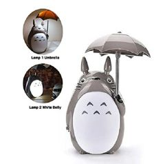 Totoro Umbrella Desk Lamp without Teeth (White Belly)