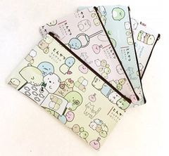 Sumikko Garushi flat Pencil Bag (White)