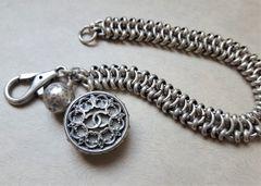Filigree Chanel Button Bracelet