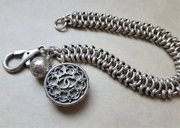 Filigree Chanel Button Bracelet