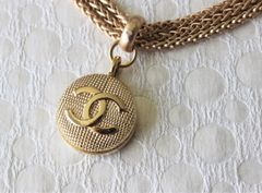 CHANEL Button Necklace, Triple Chain