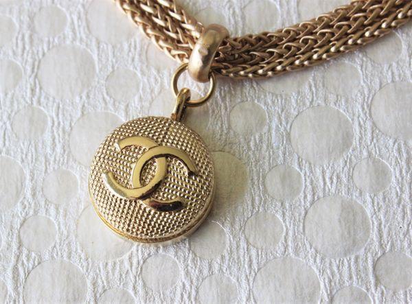 CHANEL Button Necklace, Triple Chain