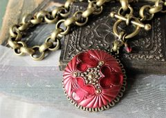 RUVI - Red Czech Glass Necklace