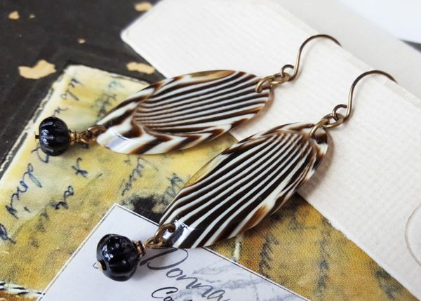 Lucite Animal Print Earrings