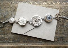 Chanel Button Charm Bracelet, Champagne Gold and Silver