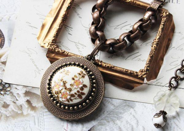 Vintage Satsuma Necklace
